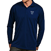 Antigua Men's Villanova Wildcats Navy Exceed Long Sleeve Polo