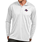 Antigua Men's Tulsa Golden Hurricane White Exceed Long Sleeve Polo