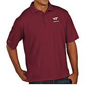 Antigua Men's Virginia Tech Hokies Maroon Pique Xtra-Lite Polo