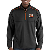 Antigua Men's Cincinnati Bengals Prodigy Quarter-Zip Black Pullover