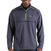 Antigua Men's Seattle Seahawks Prodigy Quarter-Zip Navy Pullover
