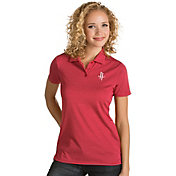 Antigua Women's Houston Rockets Xtra-Lite Red Quest Performance Polo