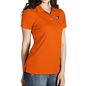 Antigua Women's Bowling Green Falcons Orange Inspire Performance Polo
