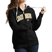 Antigua Women's James Madison Dukes Black Victory Full-Zip Hoodie