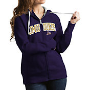 Antigua Women's James Madison Dukes Purple Victory Full-Zip Hoodie