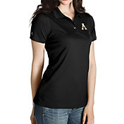 Antigua Women's Appalachian State Mountaineers Black Inspire Performance Polo