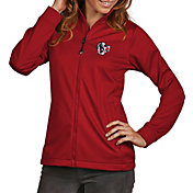Antigua Women's Houston Texans Quick Snap Logo Red Golf Jacket