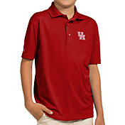 Antigua Youth Houston Cougars Red Pique Polo
