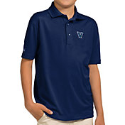 Antigua Youth Villanova Wildcats Navy Pique Polo