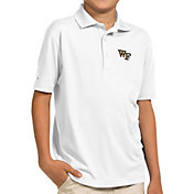 Antigua Youth Wake Forest Demon Deacons White Pique Polo