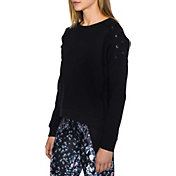 Betsey Johnson Performance Women's Lace-Up Pullover Sweatshirt