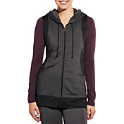 CALIA by Carrie Underwood Women's Effortless Mesh Full Zip Sleeveless Hoodie