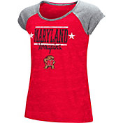 Colosseum Youth Girls' Maryland Terrapins Red Sprint T-Shirt