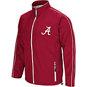 Colosseum Men's Alabama Crimson Tide Crimson Barrier Full Zip Wind Jacket
