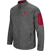 Colosseum Men's Oklahoma Sooners Grey Anchor Full-Zip Jacket