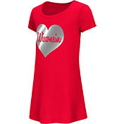 Colosseum Athletics Toddler Girls' Wisconsin Badgers Red Croquet Dress