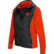 Colosseum Women's Clemson Tigers Black/Orange Six Fingers Full-Zip Jacket