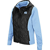 Colosseum Women's North Carolina Tar Heels Black/Carolina Blue Six Fingers Full-Zip Jacket