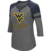Colosseum Women's West Virginia Mountaineers Grey Three-Quarter Sleeve Tri-Blend T-Shirt