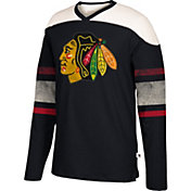 CCM Men's Chicago Blackhawks Crew Black Long Sleeve Shirt