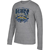 CCM Men's St. Louis Blues Centennial Fly High Heather Grey Long Sleeve Shirt