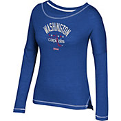 CCM Women's Washington Capitals Paint Chip Navy Long Sleeve Shirt
