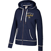 CCM Women's Buffalo Sabres Logo Fleece Navy Full-Zip Hoodie