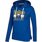 CCM Women's Buffalo Sabres Bottom Stripe Royal Pullover Hoodie