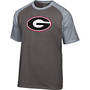 Champion Men's Georgia Bulldogs Grey Big Logo T-Shirt
