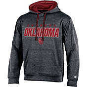 Champion Men's Oklahoma Sooners Grey T-Formation Hoodie