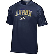 Champion Men's Akron Zips Navy Logo T-Shirt