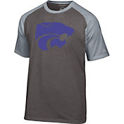 Champion Men's Kansas State Wildcats Grey Big Logo T-Shirt