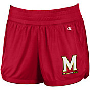 Champion Women's Maryland Terrapins Red Endurance Performance Shorts