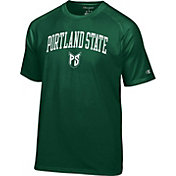 Champion Men's Portland State Vikings Green Logo T-Shirt