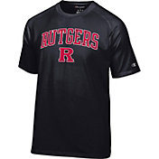 Champion Men's Rutgers Scarlet Knights Black Logo T-Shirt