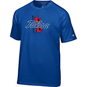 Champion Men's Tulsa Golden Hurricane Blue Logo T-Shirt