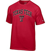 Champion Men's Texas Tech Red Raiders Red Word Logo T-Shirt