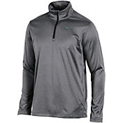 Champion Men's Vanderbilt Commodores Grey Knit Mesh Quarter-Zip Shirt
