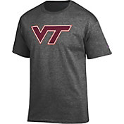 Champion Men's Virginia Tech Hokies Grey Big Soft T-Shirt