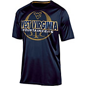Champion Men's West Virginia Mountaineers Blue Impact Basketball T-Shirt