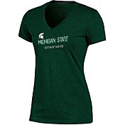 Champion Women's Michigan State Spartans Green Success V-Neck T-Shirt