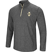 Colosseum Men's Idaho Vandals Grey Action Pass Quarter-Zip Shirt