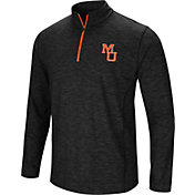 Colosseum Athletics Men's Mercer Bears Action Pass Quarter-Zip Black Shirt
