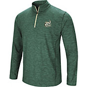 Colosseum Athletics Men's Charlotte 49ers Green Action Pass Quarter-Zip Shirt