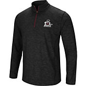 Colosseum Athletics Men's New Mexico State Aggies Action Pass Quarter-Zip Black Shirt