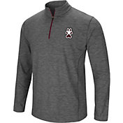 Colosseum Men's Southern Illinois  Salukis Grey Action Pass Quarter-Zip Shirt