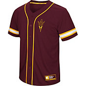 Colosseum Men's Arizona State Sun Devils Maroon Play Ball Baseball Jersey