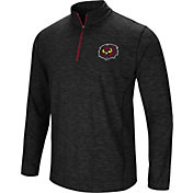 Colosseum Athletics Men's Temple Owls Action Pass Quarter-Zip Black Shirt