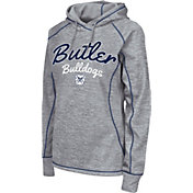 Colosseum Women's Butler Bulldogs Grey Crossneck Pullover Hoodie