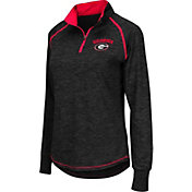 Colosseum Women's Georgia Bulldogs Black Bikram Quarter-Zip Top